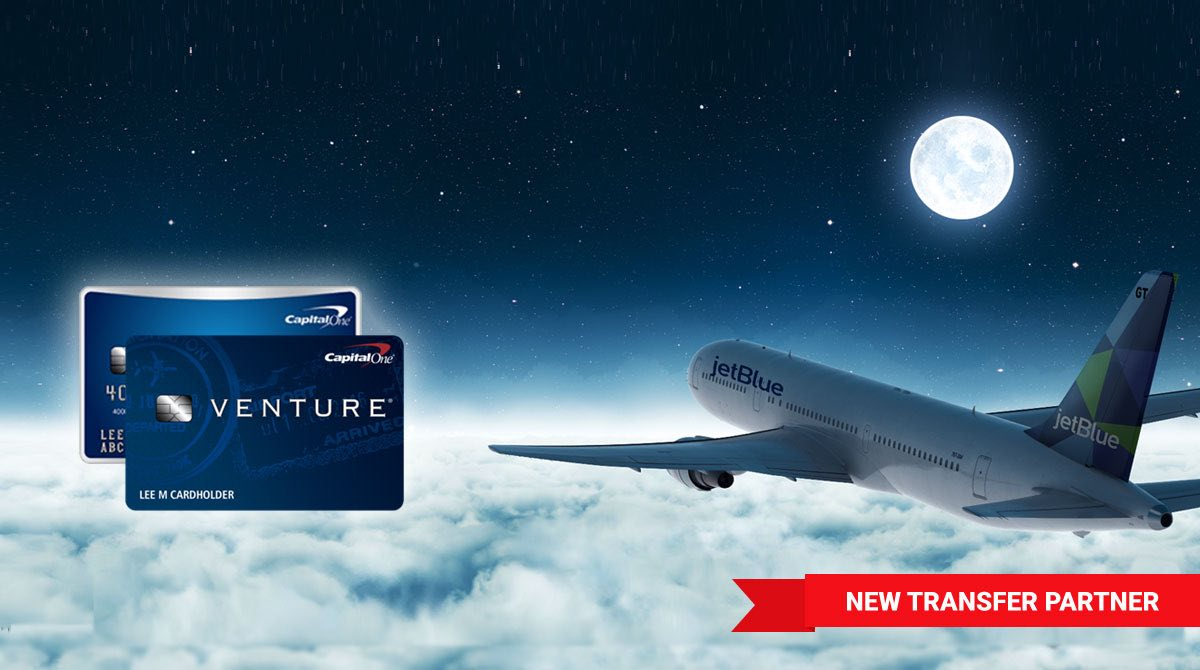 shows flying plane and venture credit card