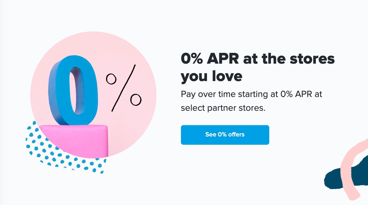 0% APR at the stores you love