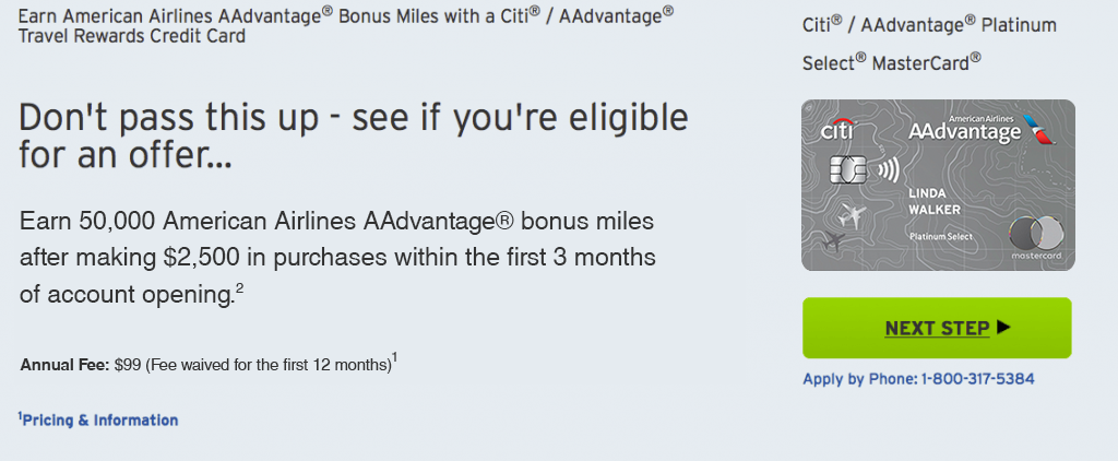 Citi / AAdvantage Platinum Select MasterCard Credit Card Review